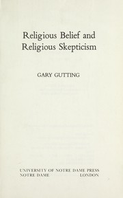 Religious belief and religious skepticism PDF