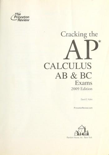 Download Cracking the AP calculus AB & BC exams