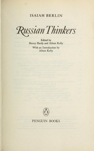 Download Russian thinkers