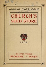 Annual catalogue [of] Church's Seed Store PDF
