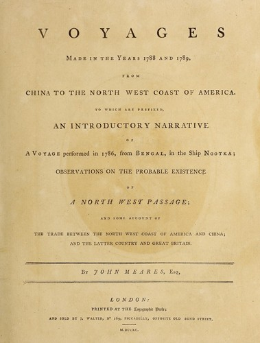 Download Voyages made in the years 1788 and 1789, from China to the north west coast of America.