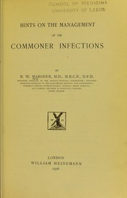 Hints on the management of the commoner infections PDF