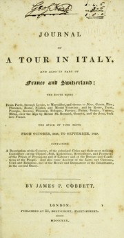 Journal of a tour in Italy PDF
