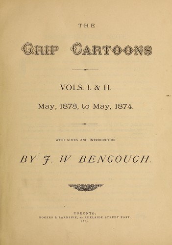 Download The Grip cartoons, vols. I & II, May 1873 to May 1874