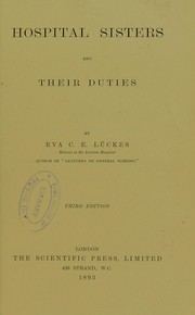 Hospital sisters and their duties PDF