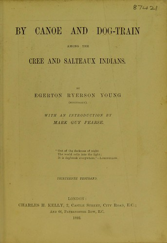 Download By canoe and dog-train among the Cree and Salteaux Indians