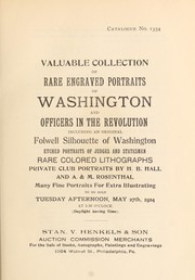 Valuable collection of rare engraved portraits of Washington and officers in the Revolution PDF