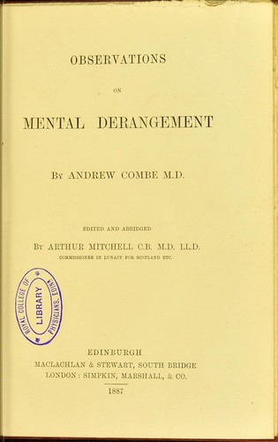 Download Observations on mental derangement