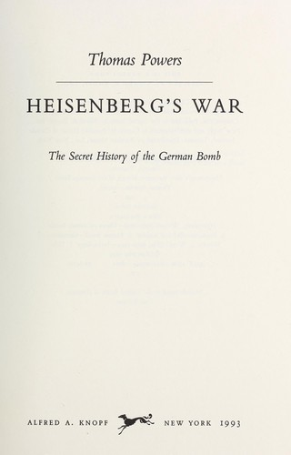 Download Heisenberg's war