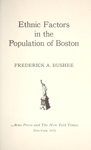 Ethnic factors in the population of Boston