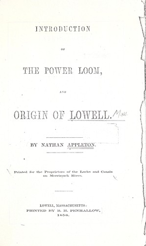 Introduction of the power loom