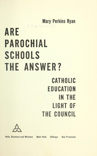 Download Are parochial schools the answer?