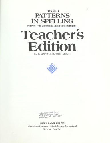 Patterns in spelling