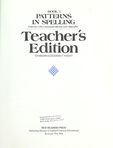 Download Patterns in spelling