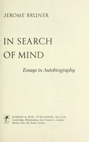 In Search of Mind PDF