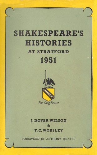 Shakespeare's histories at Stratford, 1951