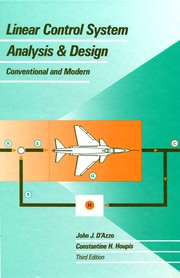 Linear control system analysis and design PDF