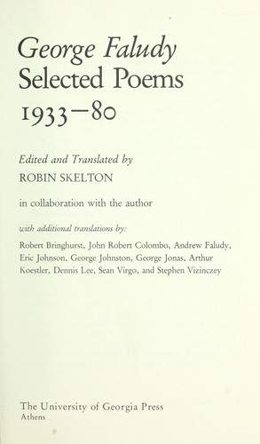 Selected poems, 1933-80
