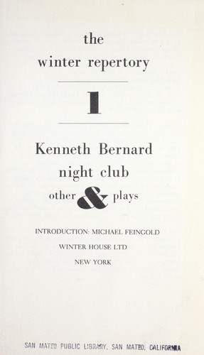 Night club & other plays.