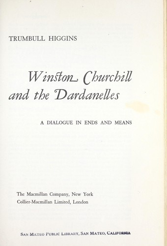 Winston Churchill and the Dardanelles