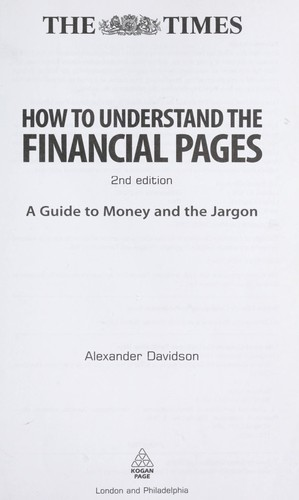 How to understand the financial pages