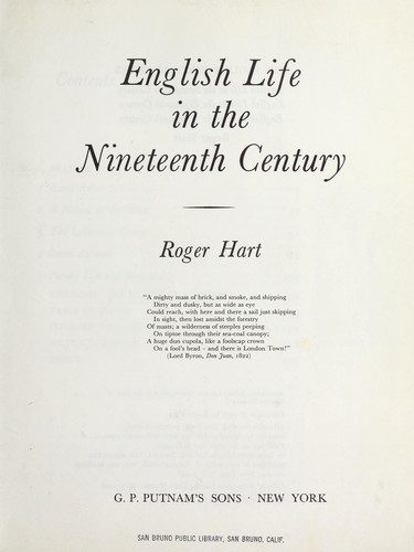 English life in the nineteenth century.