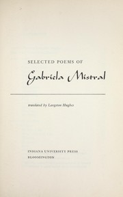 Selected poems of Gabriela Mistral PDF