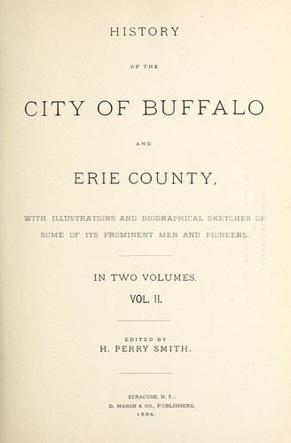 Download History of the city of Buffalo and Erie county