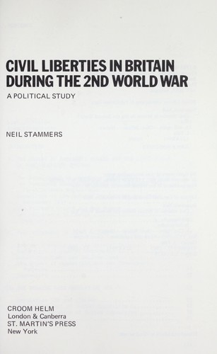 Download Civil liberties in Britain during the 2nd World War