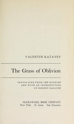 Download The grass of oblivion
