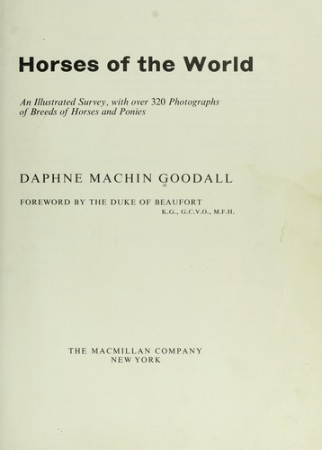 Download Horses of the world.