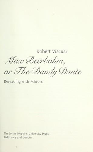 Download Max Beerbohm, or, The Dandy Dante