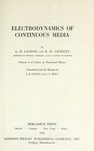 Electrodynamics of continuous media