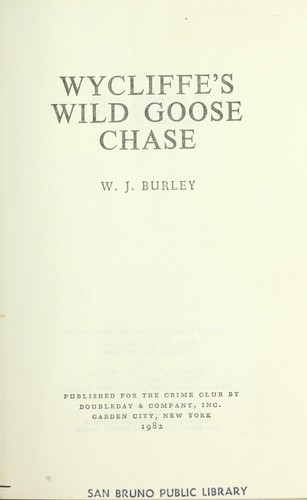 Download Wycliffe's wild goose chase