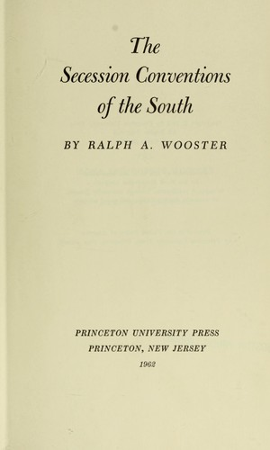 The secession conventions of the South.