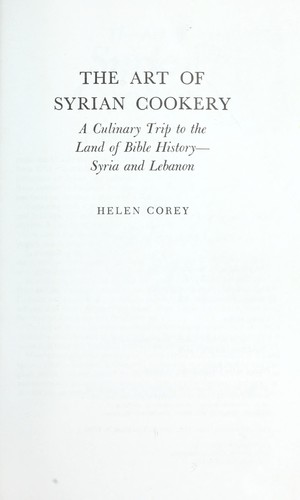 Download The art of Syrian cookery