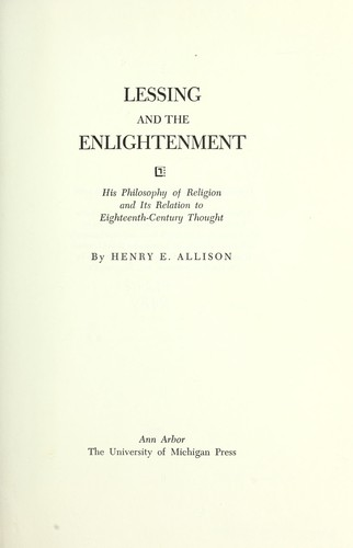 Download Lessing and the Enlightenment