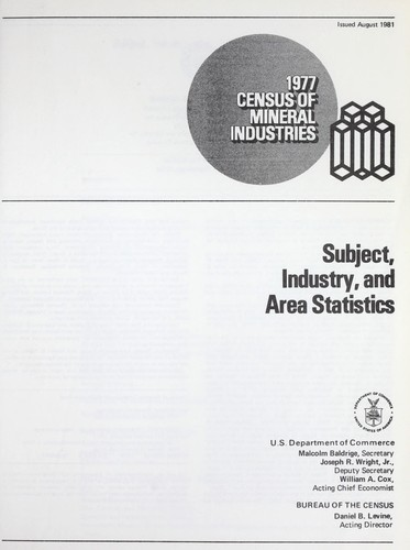 1977 census of mineral industries.