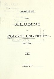 Addresses of alumni ... 1898 PDF