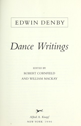Download Dance writings