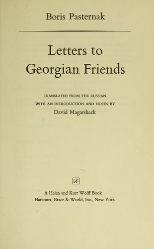 Download Letters to Georgian friends.