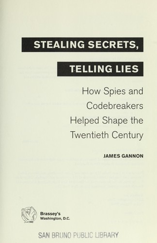 Download Stealing secrets, telling lies