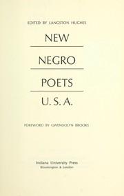 New Negro poets, U.S.A PDF