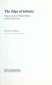 EDGE OF INFINITY: SUPERMASSIVE BLACK HOLES IN THE UNIVERSE PDF