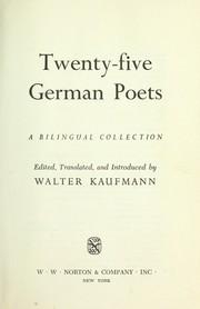 Twenty-five German poets : a bilingual collection PDF