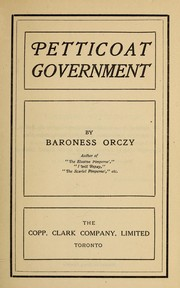 Petticoat Government PDF