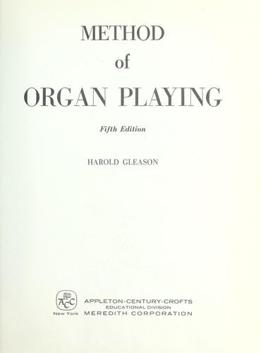 Download Method of organ playing.