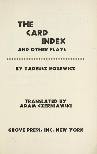 Download The card index, and other plays