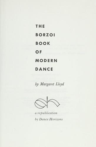 The borzoi book of modern dance.