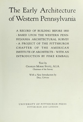 Download The early architecture of western Pennsylvania